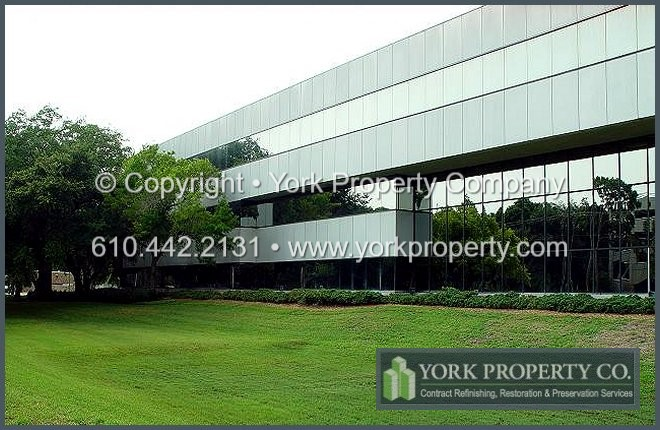 Acid Etched Clear Anodized Aluminum Building Facade