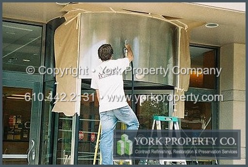 We are experts at oxidized anodized aluminum cladding cleaning, weathered anodized aluminum panel restoration, stained anodized aluminum building façade panel refinishing and faded anodized aluminum storefront window frame maintenance.